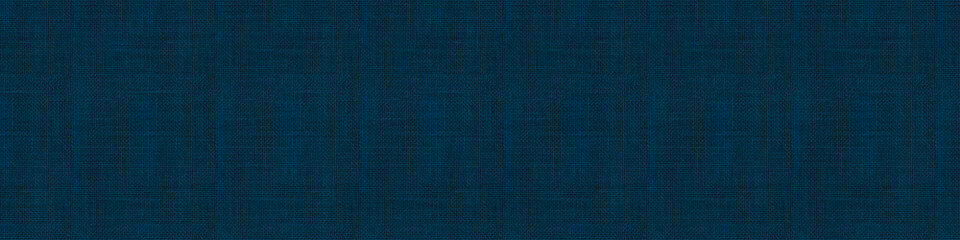 Foto op Canvas Stof Close up texture of natural weave cloth in dark blue or teal color. Fabric texture of natural cotton or linen textile material. Seamless background.