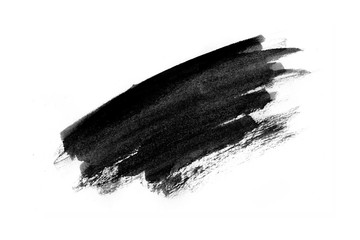 Abstract black ink texture Japan style on a white background. Fotomurales