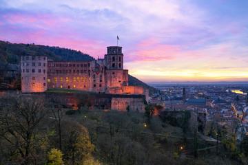 Heidelberger Schloss zum Sonnenuntergang