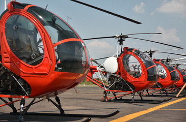 Wall Murals Helicopter helicopter parking at the airport