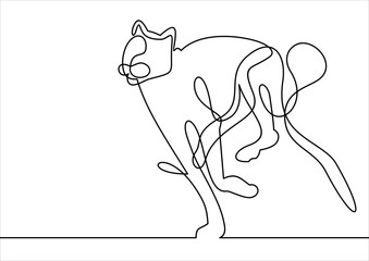 Running line leopard- continuous line drawing