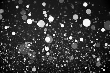 Snow on black background