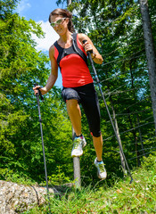 Trail Running in gebirgigem Gelände
