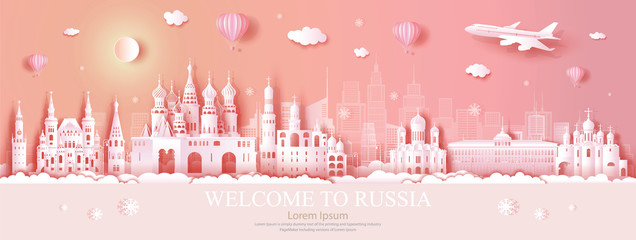 Wall Mural - Travel Russia top world famous city ancient and palace architecture.