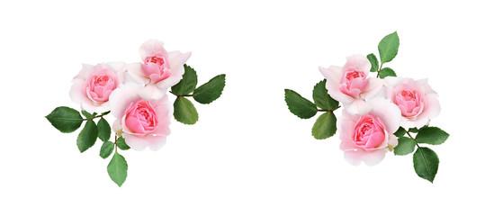 Set of rose flowers arrangements