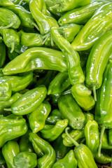 Green pepper background