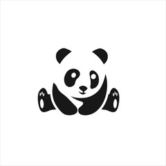 panda logo design vector