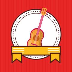 guitar musical instrument seal stamp
