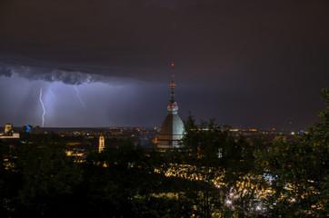 Wall Mural - Turin lightning