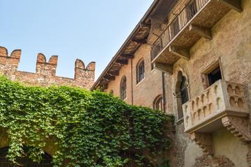 Balcony of Juliets house in city of Verona, Italy