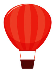 Single picture of red hot air balloon