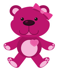 Single picture of pink teddy bear