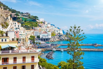 Beautiful seaside town Amalfi in province of Salerno, region of Campania, Italy