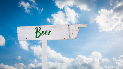 Street Sign to Beer