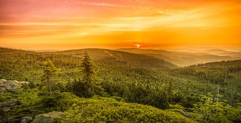 Foto op Canvas Meloen picturesque hills landscape at sunset