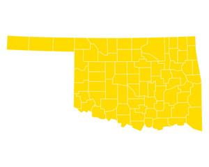 Karte von Oklahoma