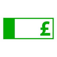 Britisches Pfund und Geldschein