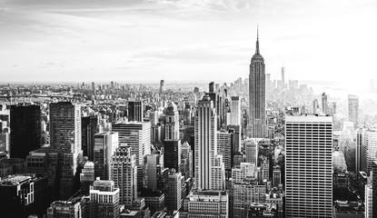 Stores photo New York New York City Skyline in schwarz weiß