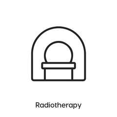 radiotherapy icon vector. radiotherapy insect icon vector symbol illustration. Modern simple vector icon for your design. radiotherapy icon vector