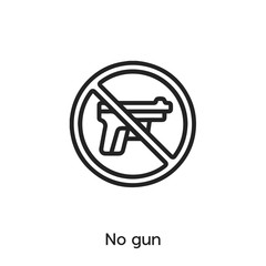 no gun icon vector sign symbol
