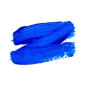 Hand drawn blue zigzag brushstroke