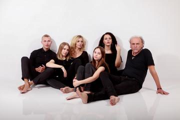 Familienwerte, glückliche Familie beim Fotografen