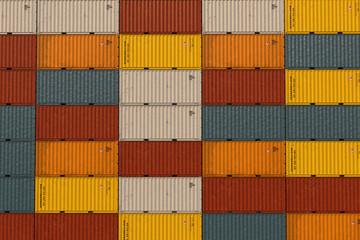 Aufgestapelte Container