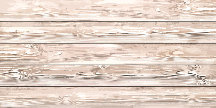 Realistic wood planks texture. Vector background for your design