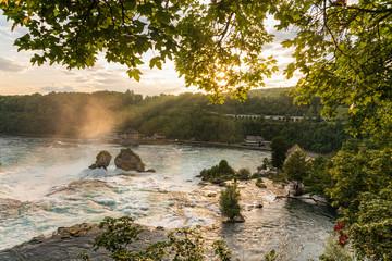 Landscape at the Rhine Falls in Neuhausen