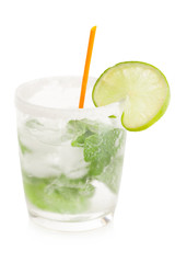 Printed roller blinds Alcohol Cold refreshing mojito on a white background