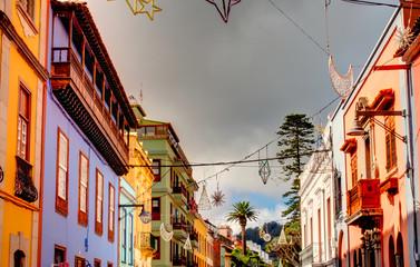 Foto op Canvas Smal steegje La Laguna, Tenerife, Historical center, HDR Image