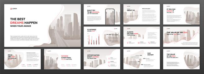 Business presentation templates set. Use for presentation background, brochure design, website slider, landing page, annual report. Fototapete