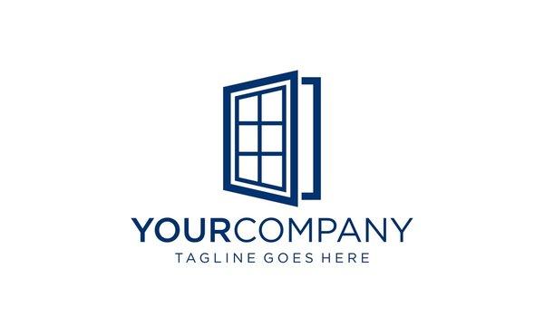 Vector of window icon for logo design concept