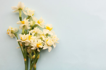Poster de jardin Narcisse bouquet of white narcissus flowers
