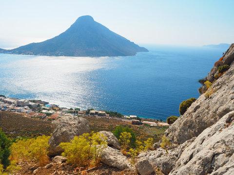 Kalymnos - Blick auf Massouri und Telendos