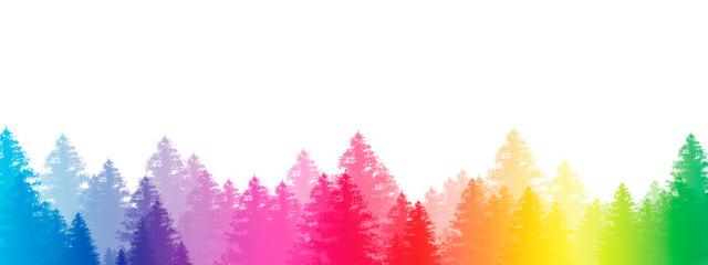Rainbow Forest Illistration