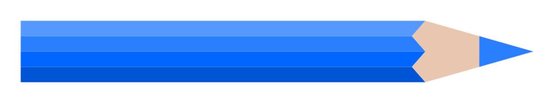 blauer Buntstift