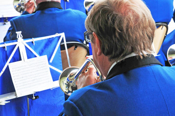 Les Mureaux; France - may 8 2018 : brass band
