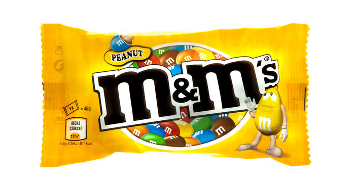 Packet of Peanut M&M's