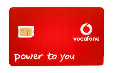 Vodafone Nano Sim card for mobile device