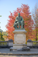 Bronze statue of Louis Pasteur in Arbois, France, Jura, by sculptor Horace Daillion in 1901.