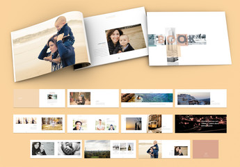 Peach Photobook Portfolio Layout