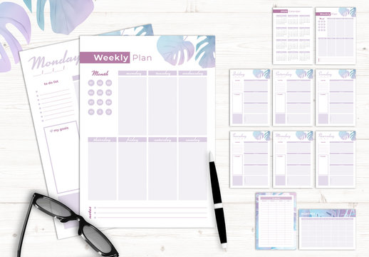 Pastel Style Planner Layout