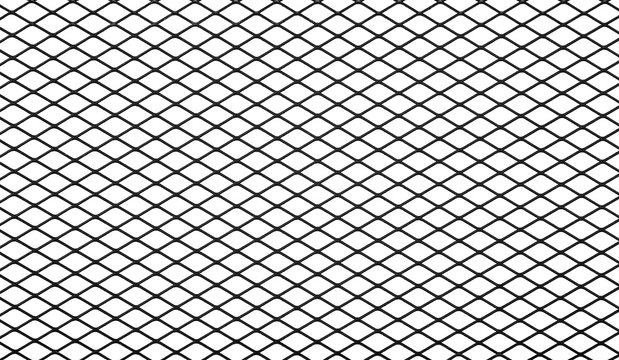 Texture of black mesh isolated on a white background