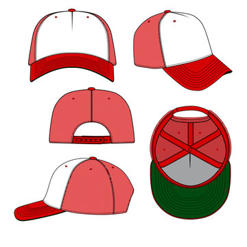 Trucker hat template