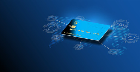 internet banking. online payment security transaction, credit card. protection shopping online payment security transaction via credit card. protection shopping wireless pay,  receipt isometric vector
