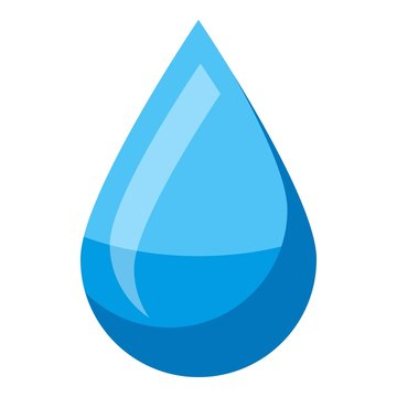 Water drop icon. Isometric of water drop vector icon for web design isolated on white background