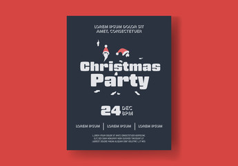 Christmas Dance Party Flyer Layout
