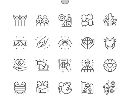 Tolerance Well-crafted Pixel Perfect Vector Thin Line Icons 30 2x Grid for Web Graphics and Apps. Simple Minimal Pictogram