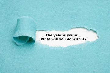 The Year Is Yours What Will You Do Fotomurales